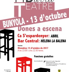 Dones a escena del Teatre de Barra a Bunyola