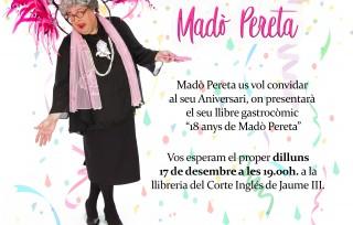 18 anys de Madò Pereta, un llibre gastrocòmic per regalar aquest Nadal