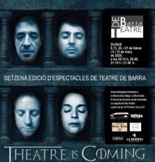 Dijous 6 de febrer s'estrena la nova edició del Teatre de Barra dedicada a sèries televisives: Theatre is coming